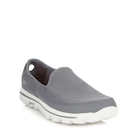 Skechers GOrun - Grey +Go Walk 2+ slip on shoes