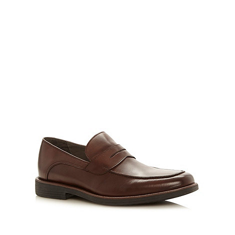 Steptronic - Wide fit dark brown loafers
