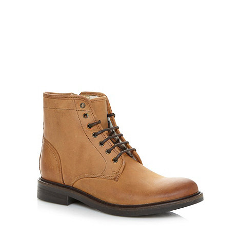 RJR.John Rocha - Designer tan leather fleece ankle boots