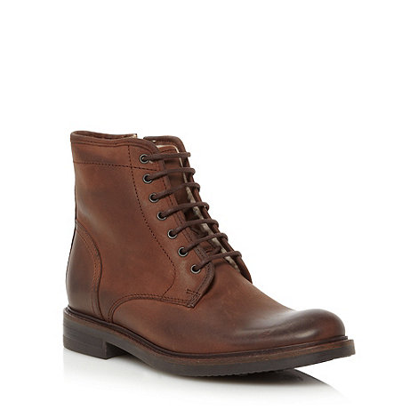 RJR.John Rocha - Designer brown leather lace up boots