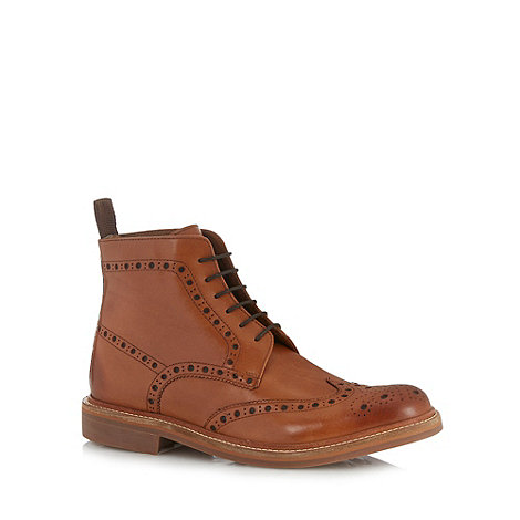 RJR.John Rocha - Designer tan leather brogue boots
