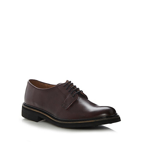 RJR.John Rocha - Designer plum leather stitch shoes