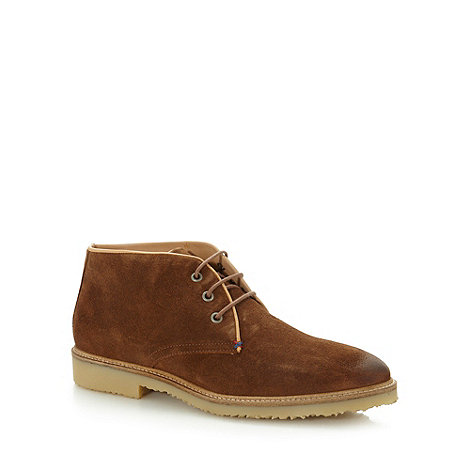 J by Jasper Conran - Designer tan suede leather chukka boots