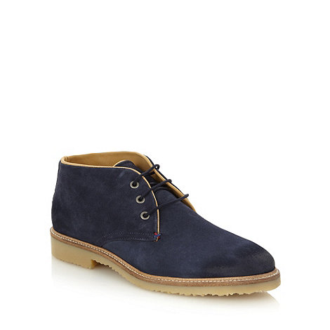 J by Jasper Conran - Designer navy suede leather chukka boots