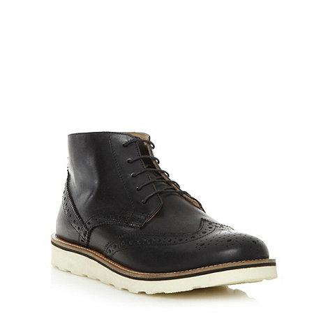 J by Jasper Conran - Designer black brogue leather boots