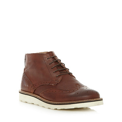 J by Jasper Conran - Designer brown brogue leather boots