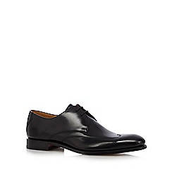 Loake - Black leather winged tip shoes