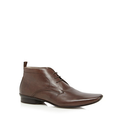 J by Jasper Conran - Designer chocolate leather chukka boots