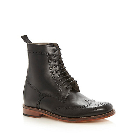 J by Jasper Conran - Designer black high top brogues
