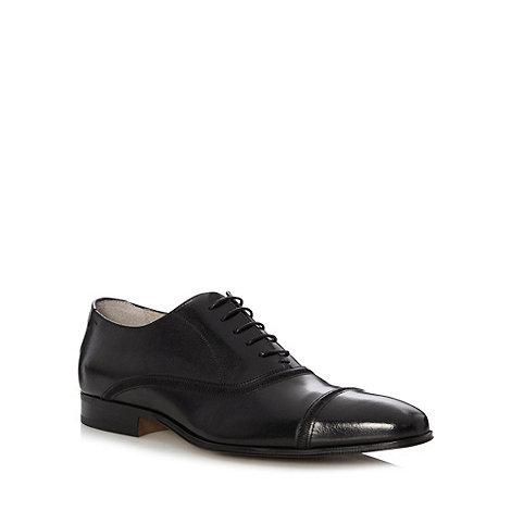 J by Jasper Conran - Designer black leather stitch toe cap shoes