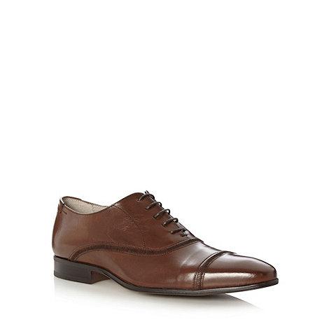 J by Jasper Conran - Designer tan leather stitch toe cap shoes