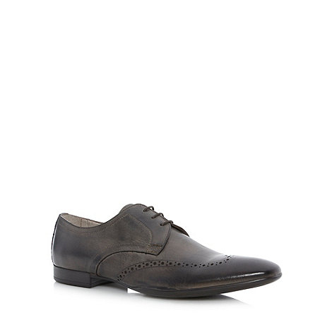J by Jasper Conran - Dark grey punched leather brogues