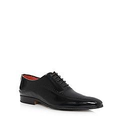 Jeff Banks - Designer black leather shine punch shoes
