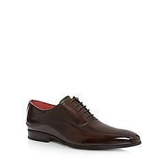 Jeff Banks - Designer brown leather shine punch shoes