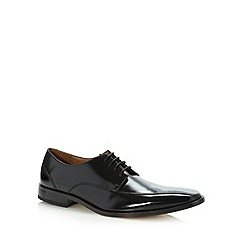Jeff Banks - Designer black leather tramline stitched shoes