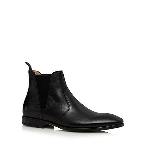 Jeff Banks - Designer black leather chelsea boots