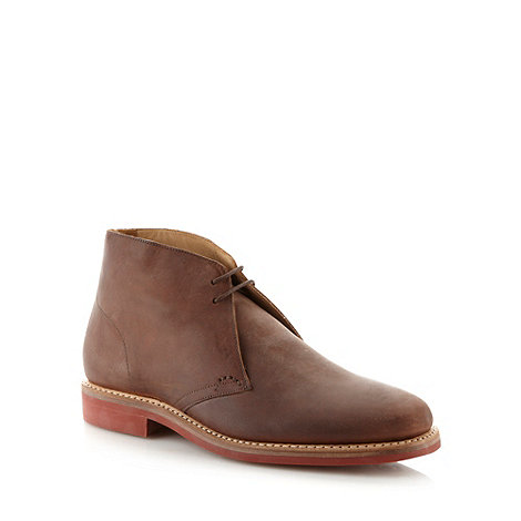 Jeff Banks - Designer brown suede leather desert boots