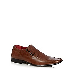 Red Tape - Tan leather tramline stitched lace up shoes