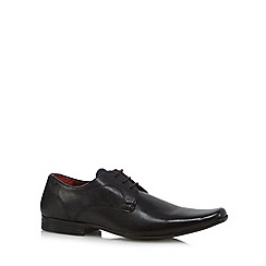 Red Tape - Black leather six eyelet lace up shoes