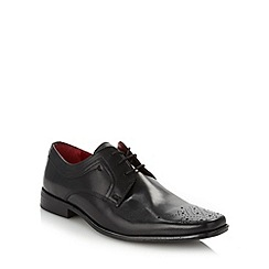 Red Tape - Black leather punched toe shoes