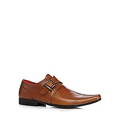 Red Tape - Tan leather buckled apron toe shoes