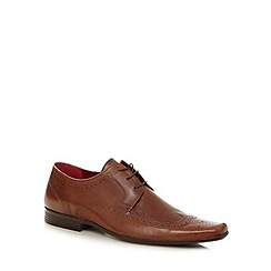 Red Tape - Tan leather square toed brogues