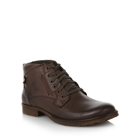 FFP - Chocolate leather ankle boots