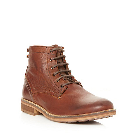 FFP - Brown leather stitch ankle boots