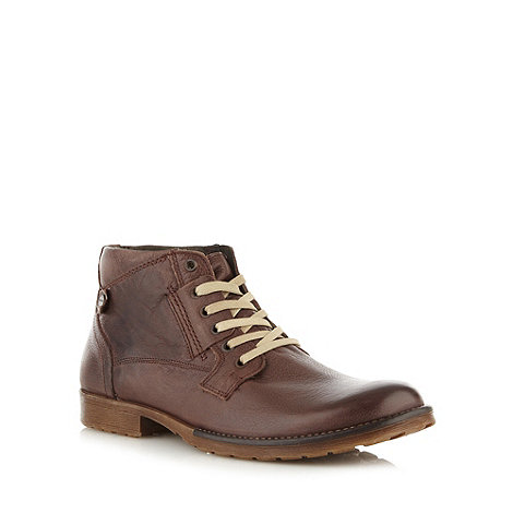 FFP - Brown leather lace up boots