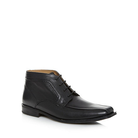 Thomas Nash - Black leather tramline ankle boots