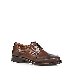 Red Tape - Dark brown leather lace up brogues
