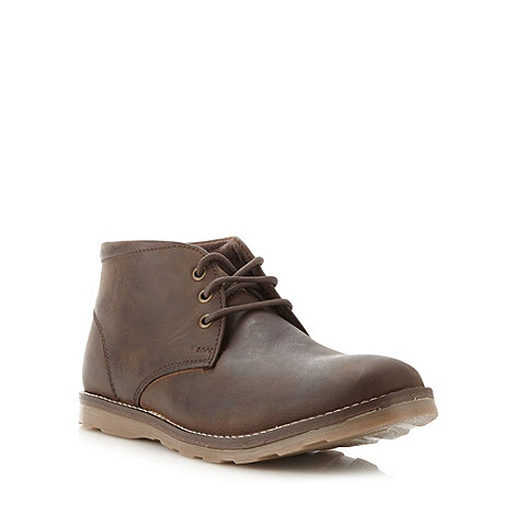 Mantaray - Dark brown leather chukka boots