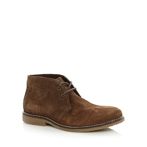 Mantaray - Brown suede desert boots