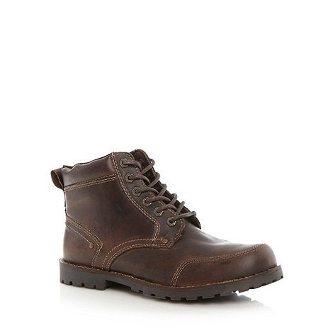 Mantaray - Chocolate stitched toe leather boots