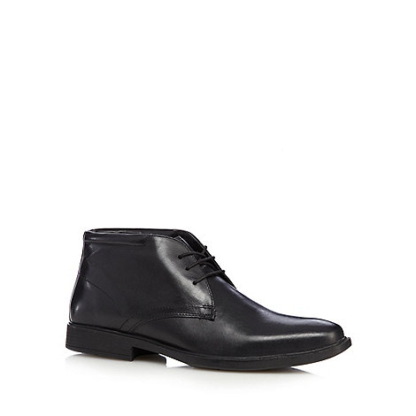 Henley Comfort - Wide fit black leather chukka boots