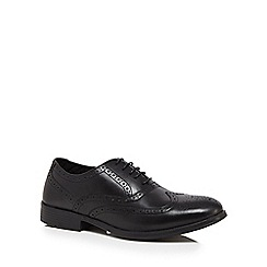Henley Comfort - Wide fit black leather lace brogues