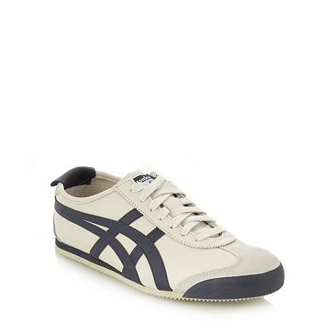 Onitsuka Tiger - Cream leather logo trainers
