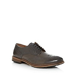 Red Herring - Grey leather lace brogues