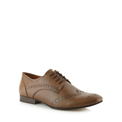 Red Herring - Tan leather lace up brogues