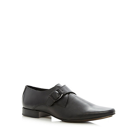 Red Herring - Black buckled leather shoes