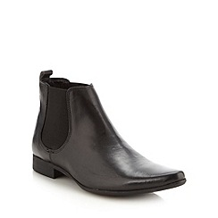 Red Herring - Black leather point chelsea boot