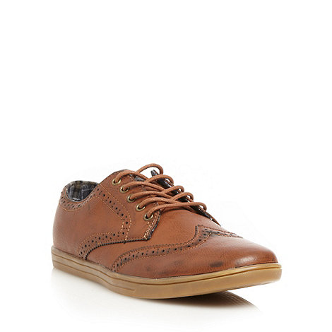 Red Herring - Tan casual brogues