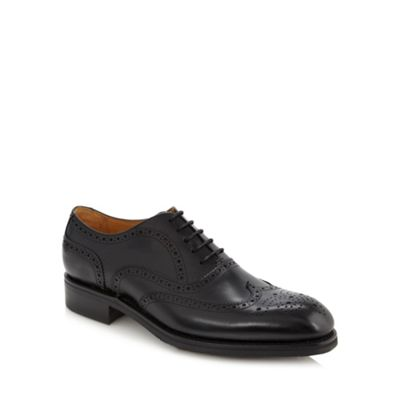 Berwick Black leather lace brogues - . -