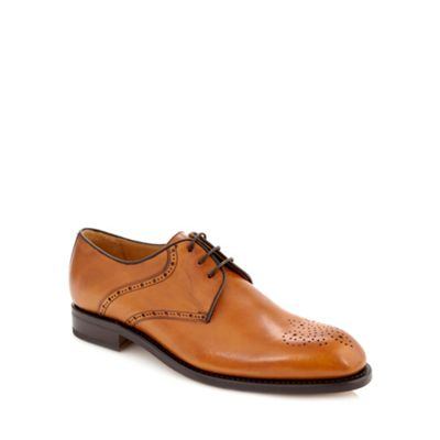 Berwick Tan leather punch hole brogues - . -