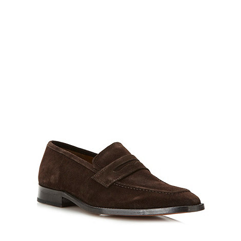Hammond & Co. by Patrick Grant - Designer brown suede apron front loafers