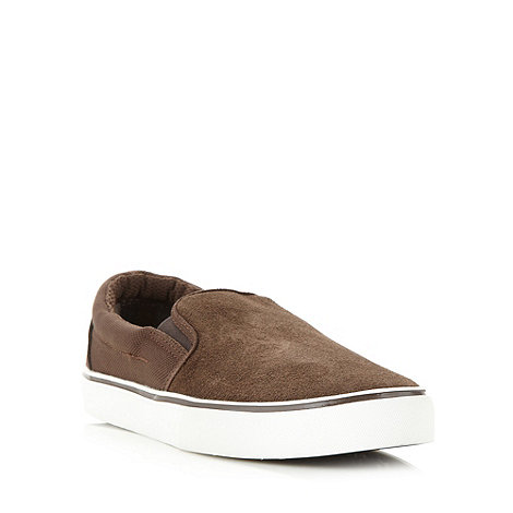 FFP - Dark brown suede slip on shoes