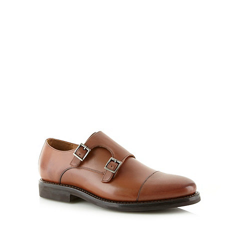 Hammond & Co. by Patrick Grant - Designer tan leather double buckle shoes