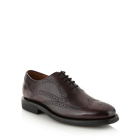 Hammond & Co. by Patrick Grant - Designer plum leather brogues