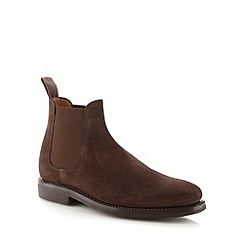 Hammond & Co. by Patrick Grant - Designer brown suede chelsea boots