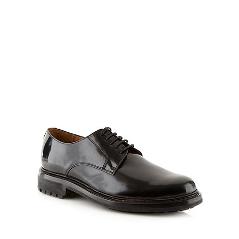Hammond & Co. by Patrick Grant - Designer black leather heavy cleat sole shoes